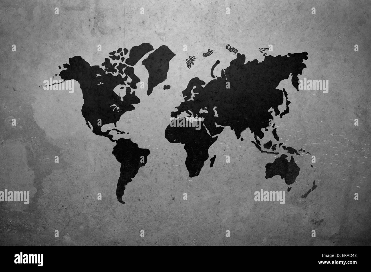 World map drawing on gray concrete wall stock photo 80749768 alamy world map drawing on gray concrete wall gumiabroncs Choice Image
