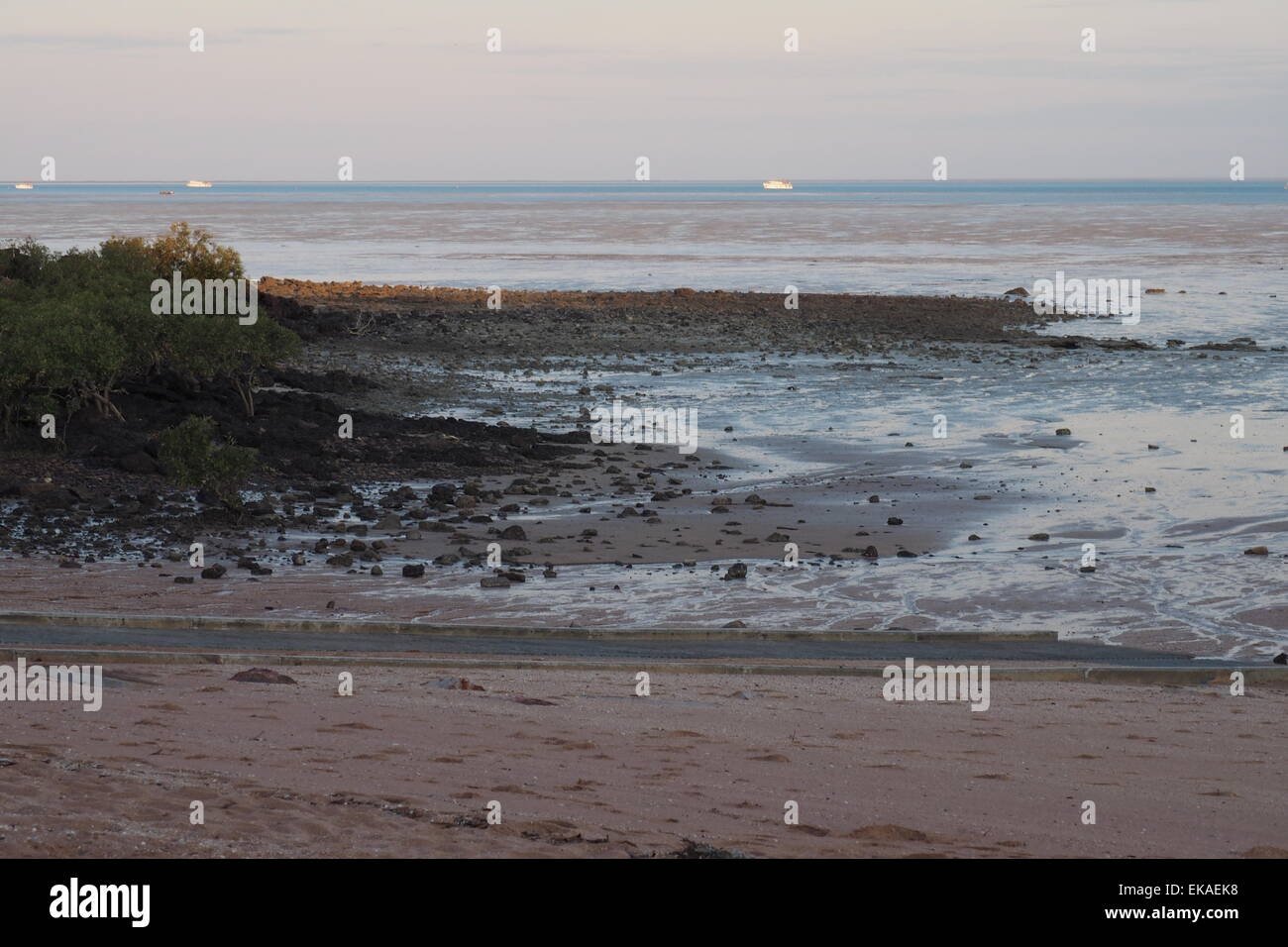 The mudflats of Roebuck Bay at low tide. - Stock Image