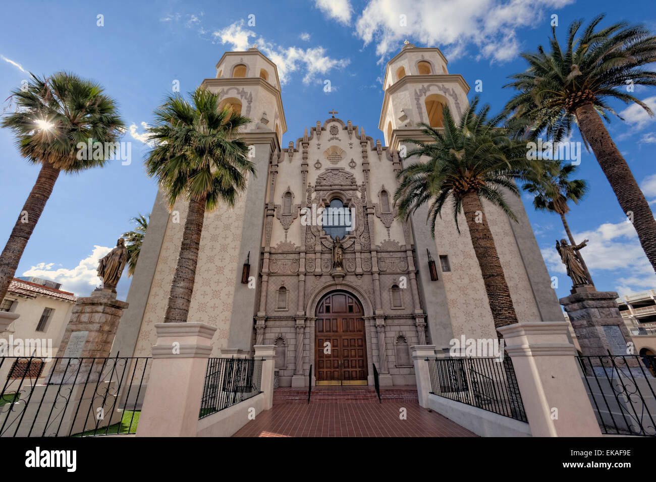 Cathedral of St. Augustine, Tucson, AZ - Stock Image