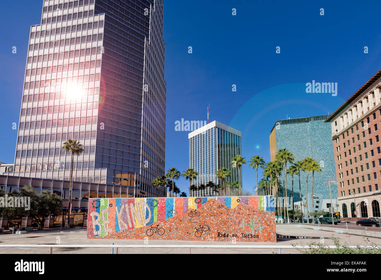 Tall Buildings of Tucson - Stock Image