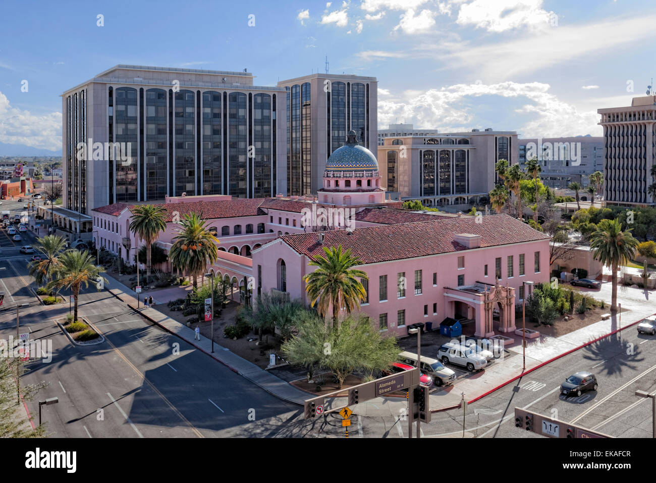 Pima County Courthouse at El Presidio Park, Tucson - Stock Image