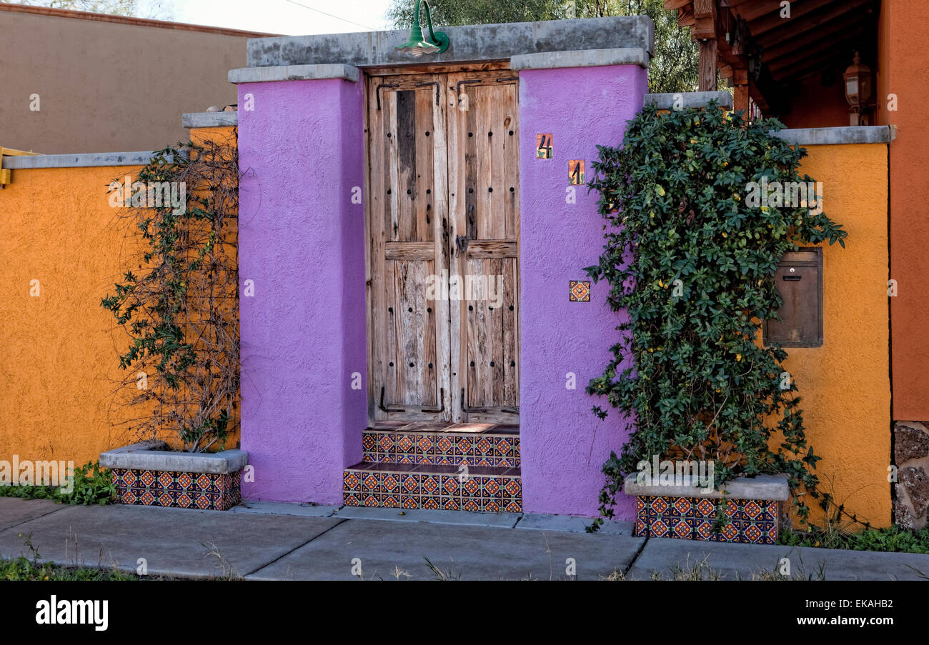 Tucson Home Entrance - Stock Image