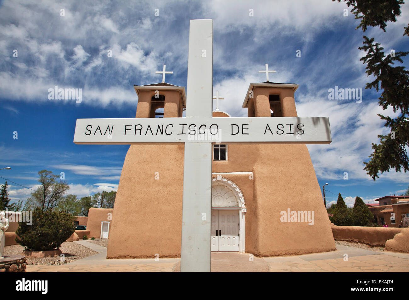 Taos plaza stock photos taos plaza stock images alamy the church at the plaza at rancho de taos near taos new mexico is publicscrutiny Images