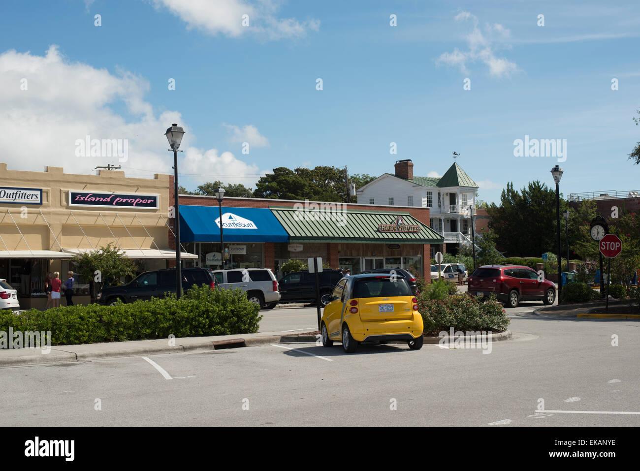 Historical homes,sites , Beaufort, North Carolina,Carteret County,main street Stock Photo