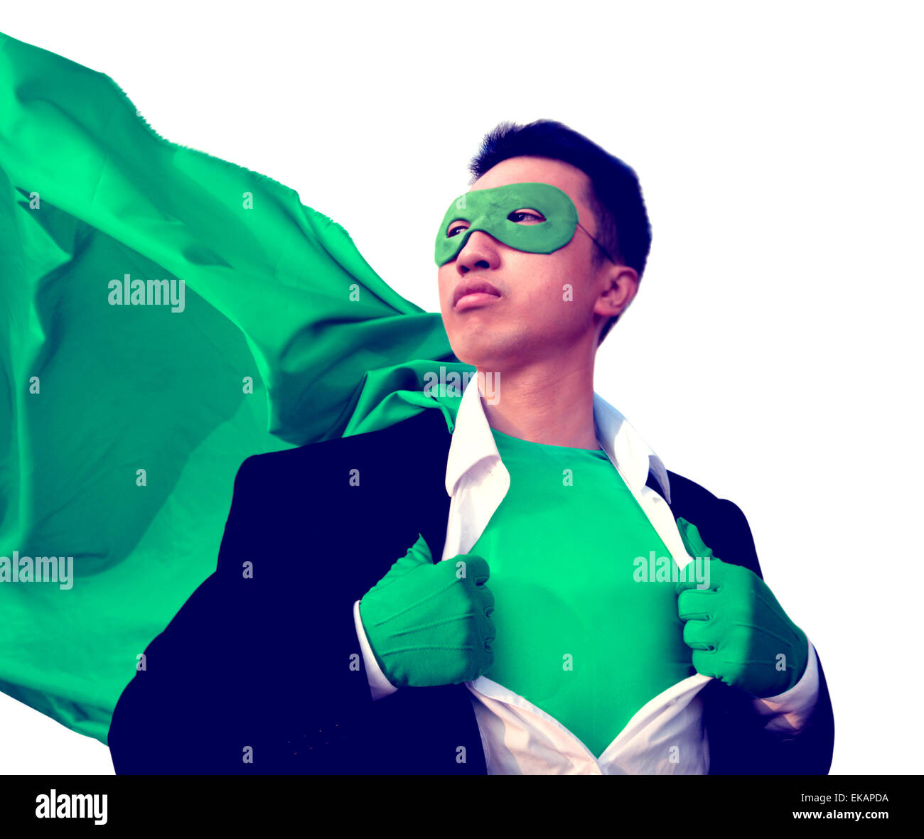 Superhero Protect Strong Victory Determination Fantasy Professional Concept - Stock Image