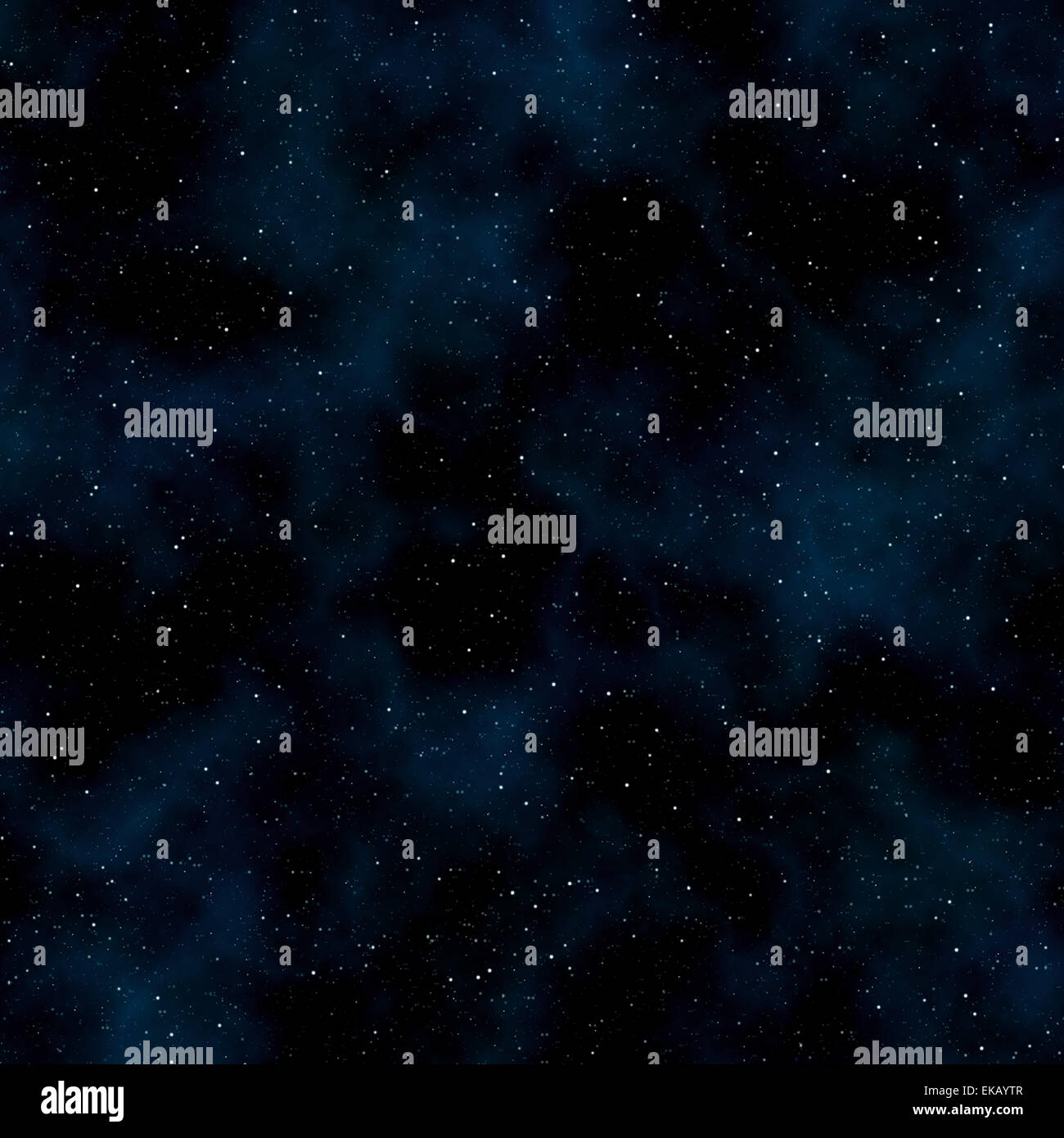 Abstract space background: stars and nebulas - Stock Image