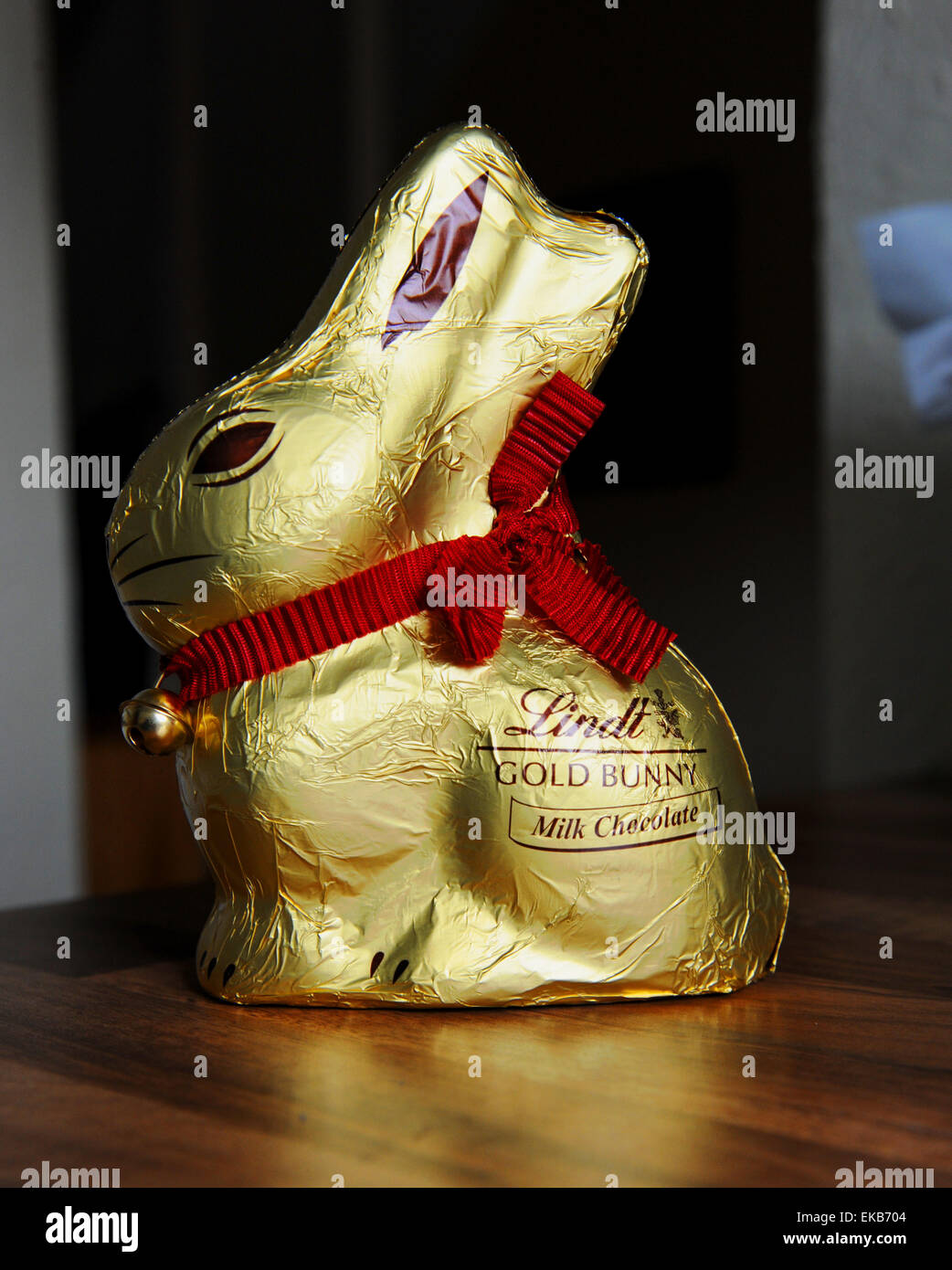 Lindt Chocolate Bunny Or Rabbit For Easter Uk Stock Photo