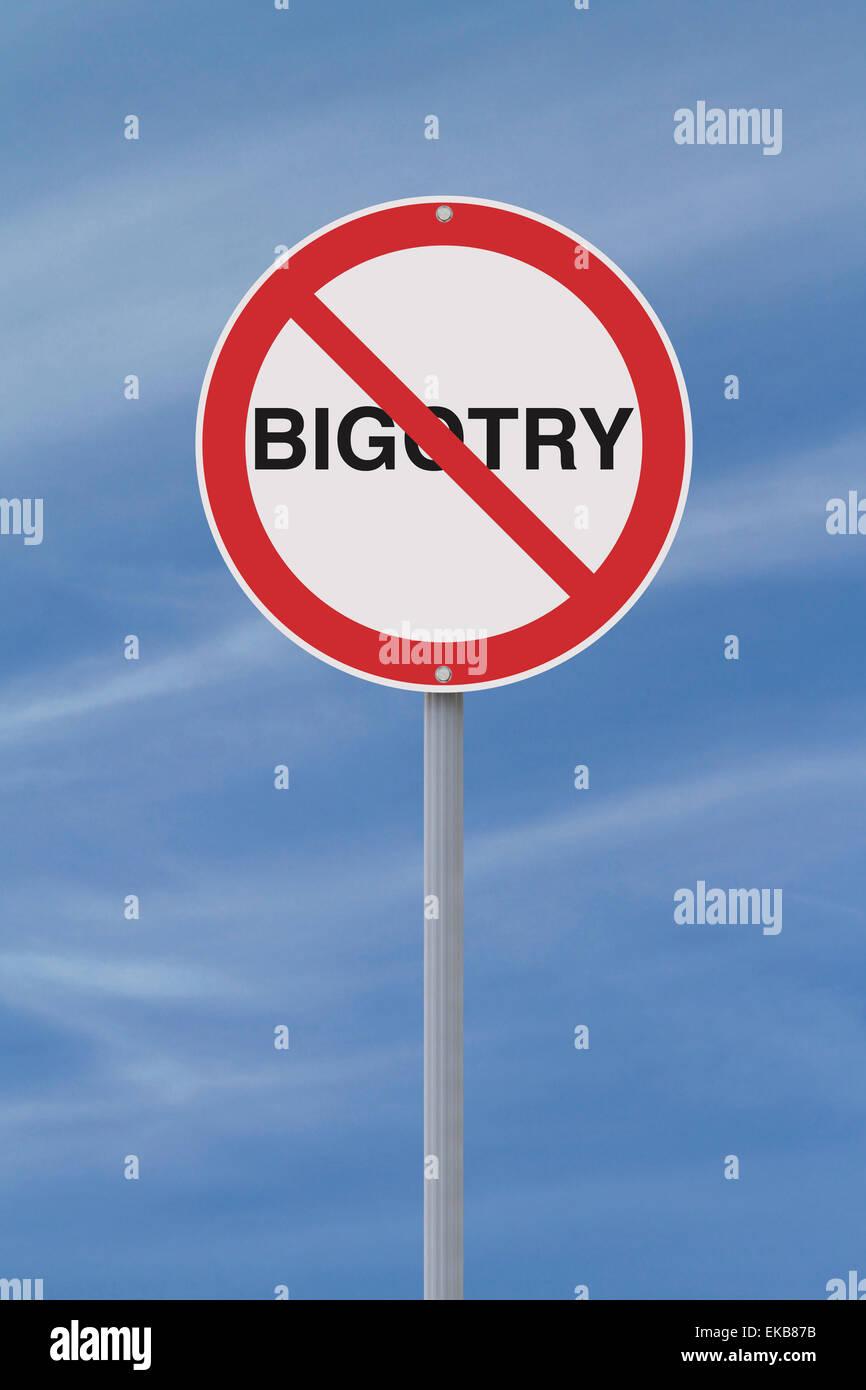 No to Bigotry - Stock Image