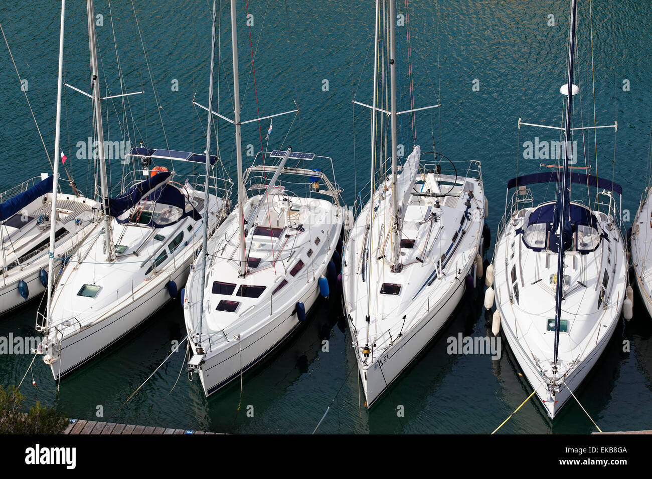 boats in harbor - Stock Image