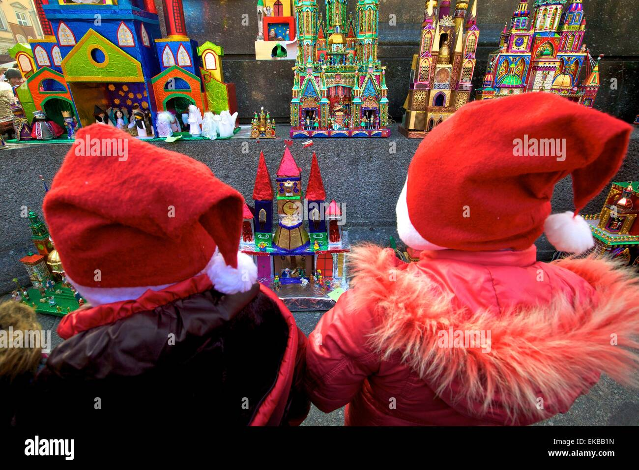 Traditional Christmas Crib Festival, Krakow (Cracow), Poland, Europe - Stock Image