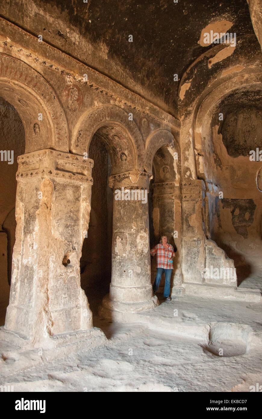 Selime, Ihlara, western Cappadocia, Anatolia, Turkey, Asia Minor, Eurasia - Stock Image