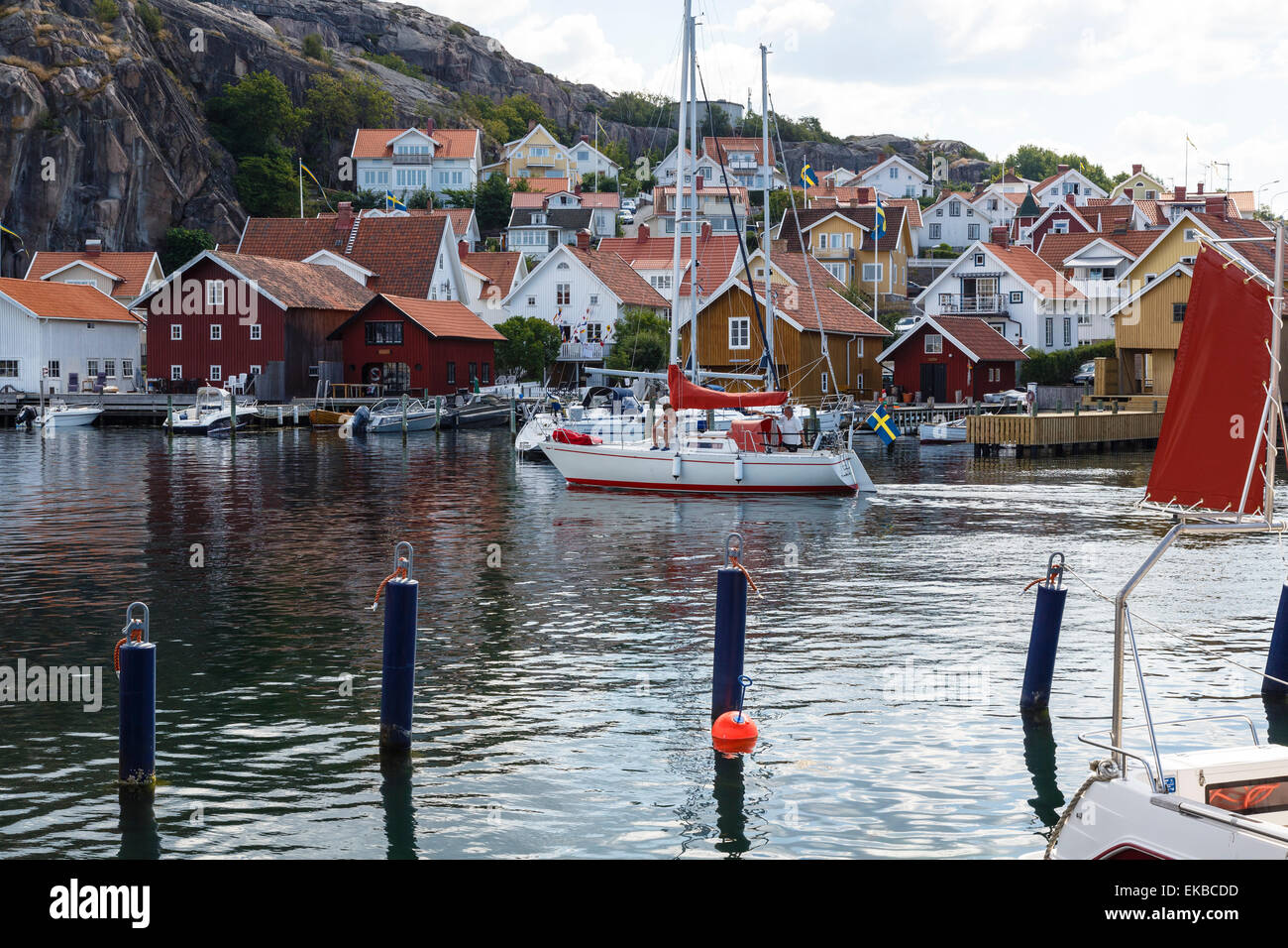 Fjallbacka, Bohuslan region, west coast, Sweden, Scandinavia, Europe - Stock Image