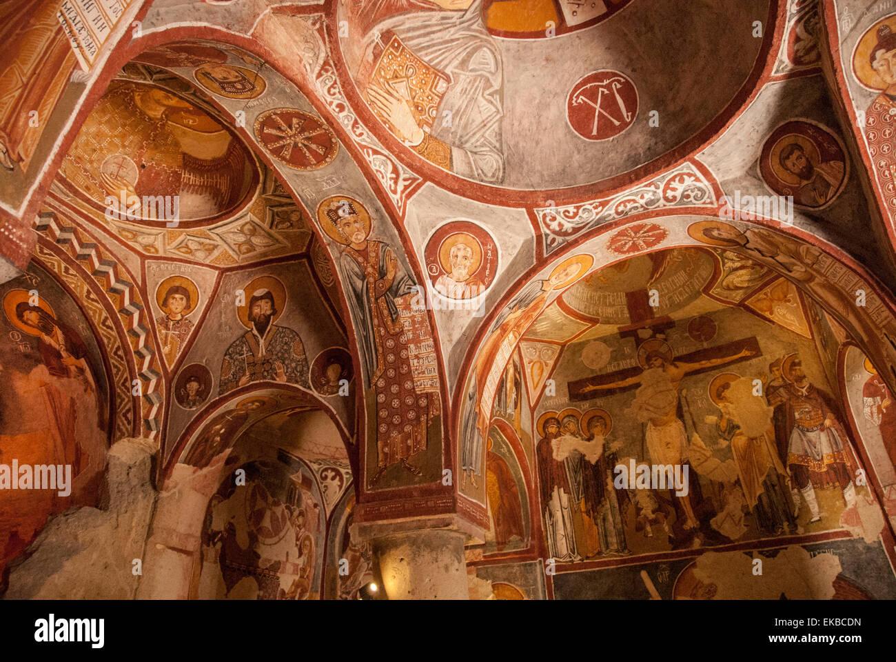 Apple Church, Goreme, UNESCO World Heritage Site, Cappadocia, Anatolia, Turkey, Asia Minor, Eurasia - Stock Image