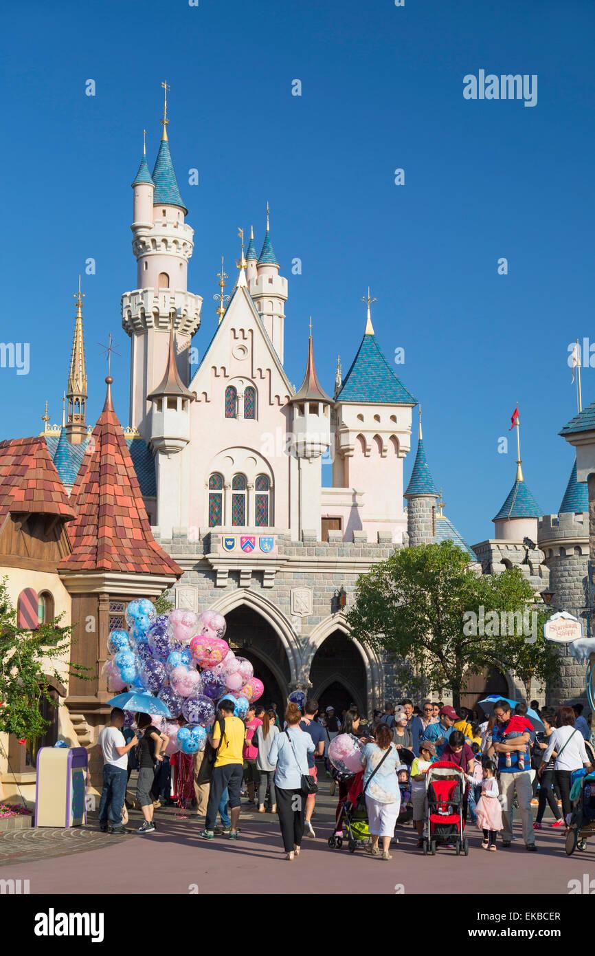 Disneyland, Lantau Island, Hong Kong, China, Asia - Stock Image