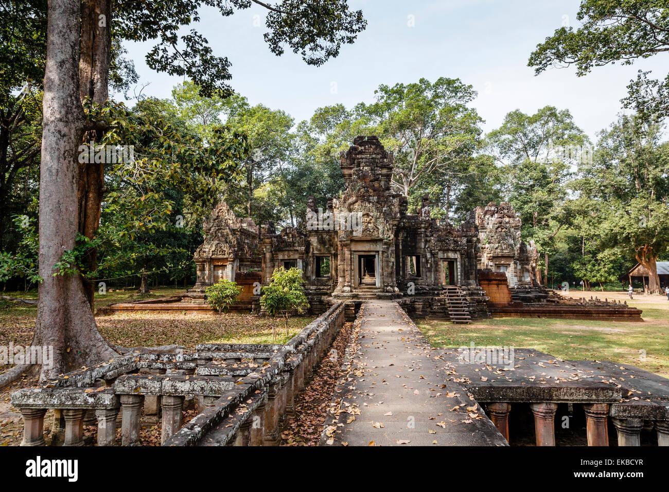 Ruins of the Chau Say Tevoda Temple, Angkor, UNESCO World Heritage Site, Cambodia, Indochina, Southeast Asia, Asia - Stock Image