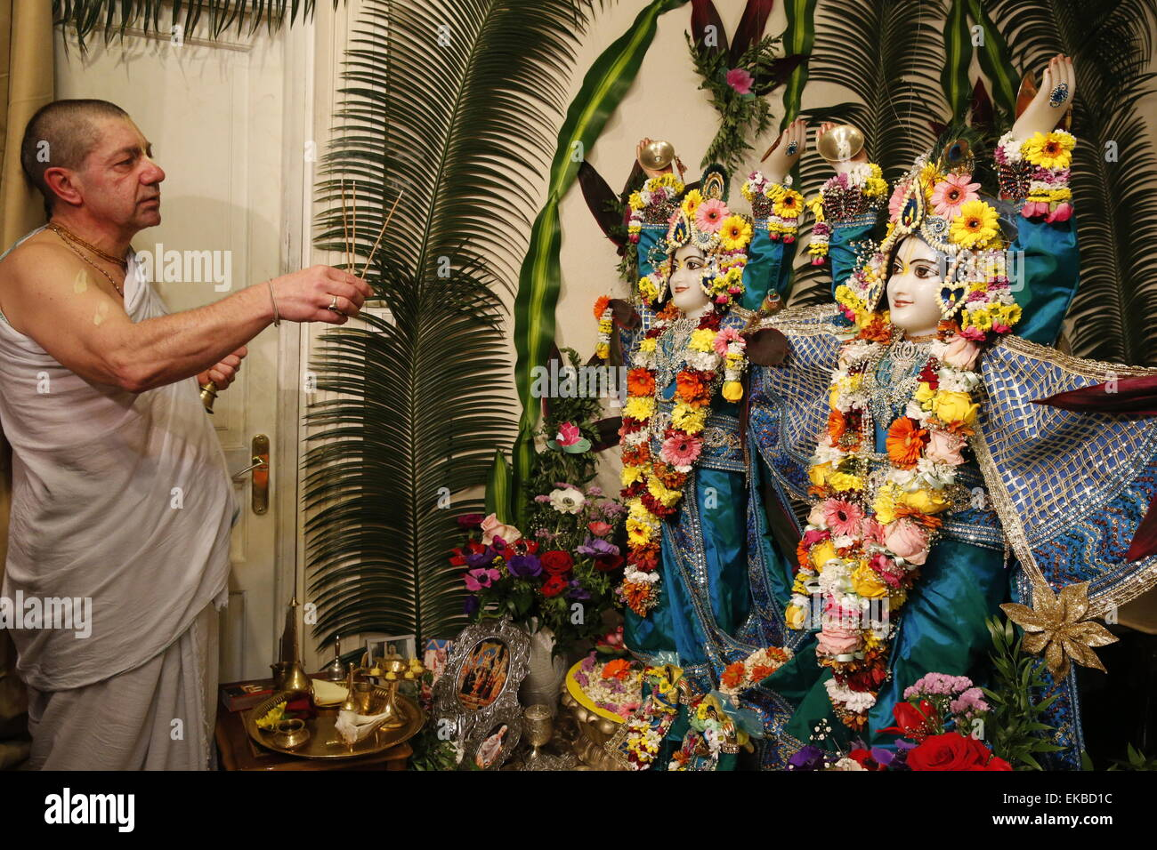Gaura Purnima celebration, Sarcelles, Val d'Oise, France, Europe - Stock Image