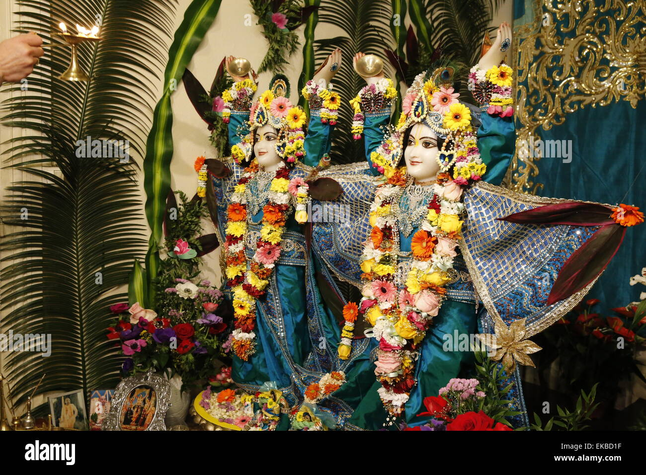 Gaura Purnima celebration, Sarcelles, Val d'Oise, France, Europe Stock Photo