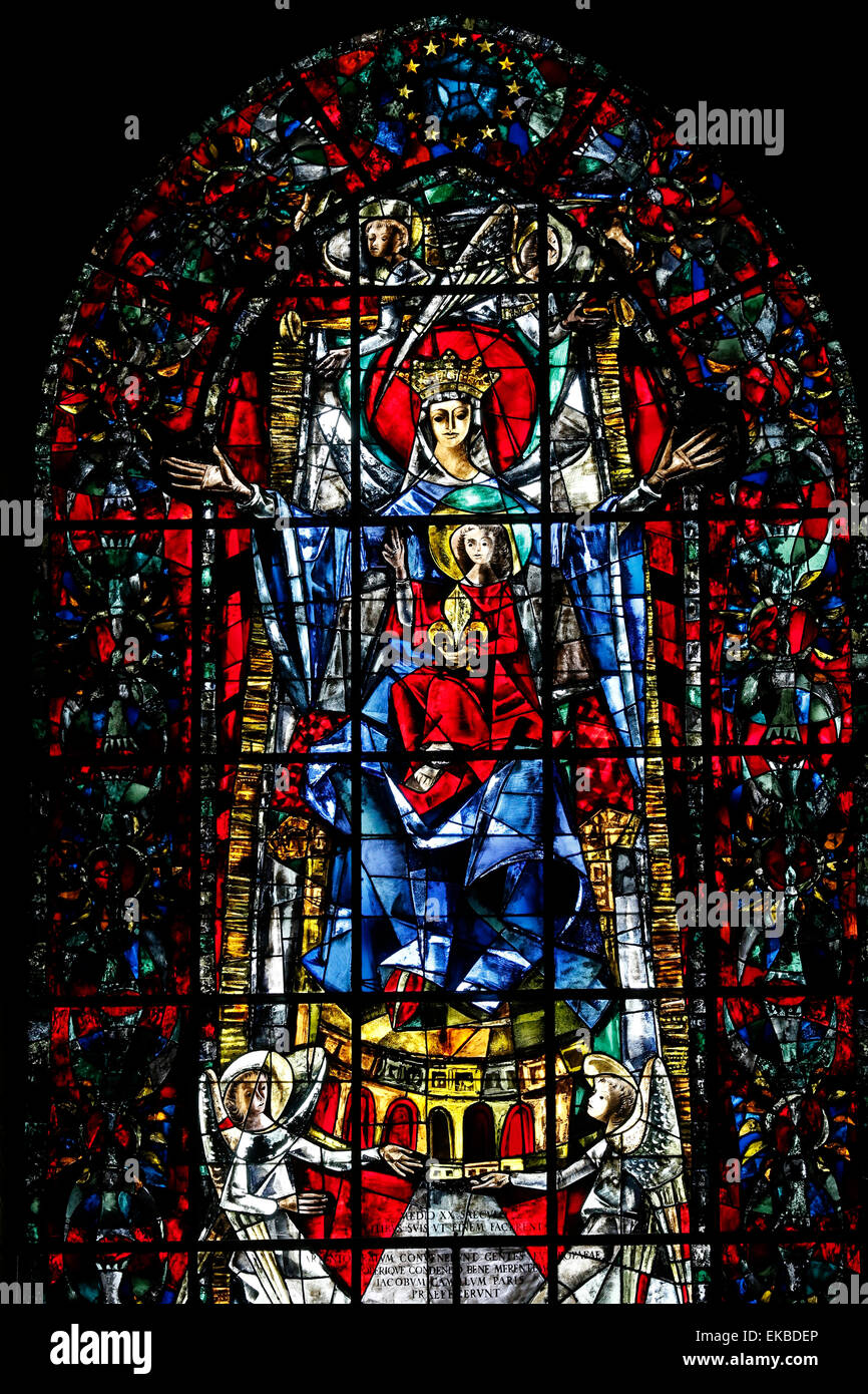 Stained Glass Windows In Cathedrals In Europe