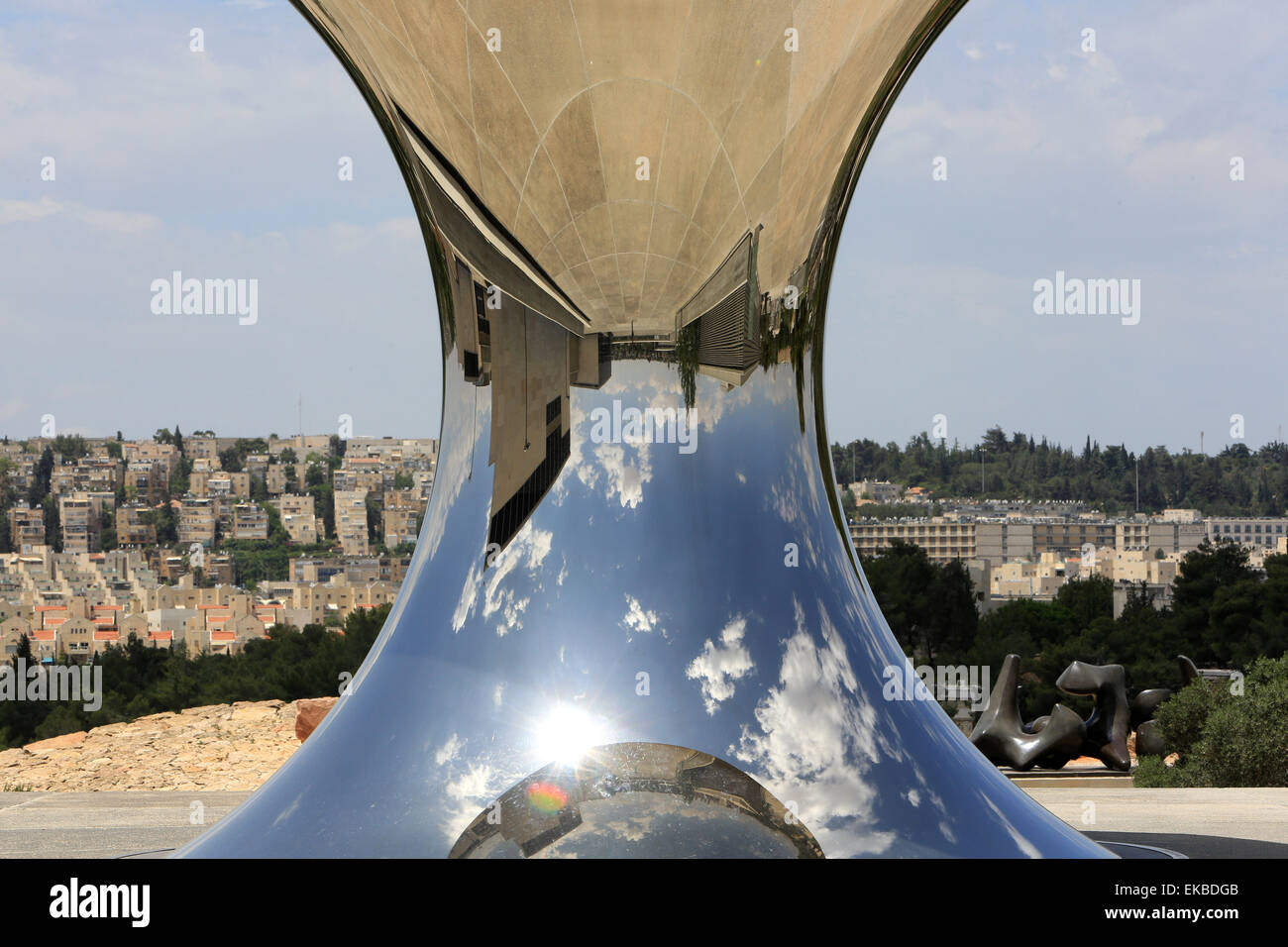 Turning the world upside down by Anish Kapoor, at the Israel Museum, Jerusalem - Stock Image