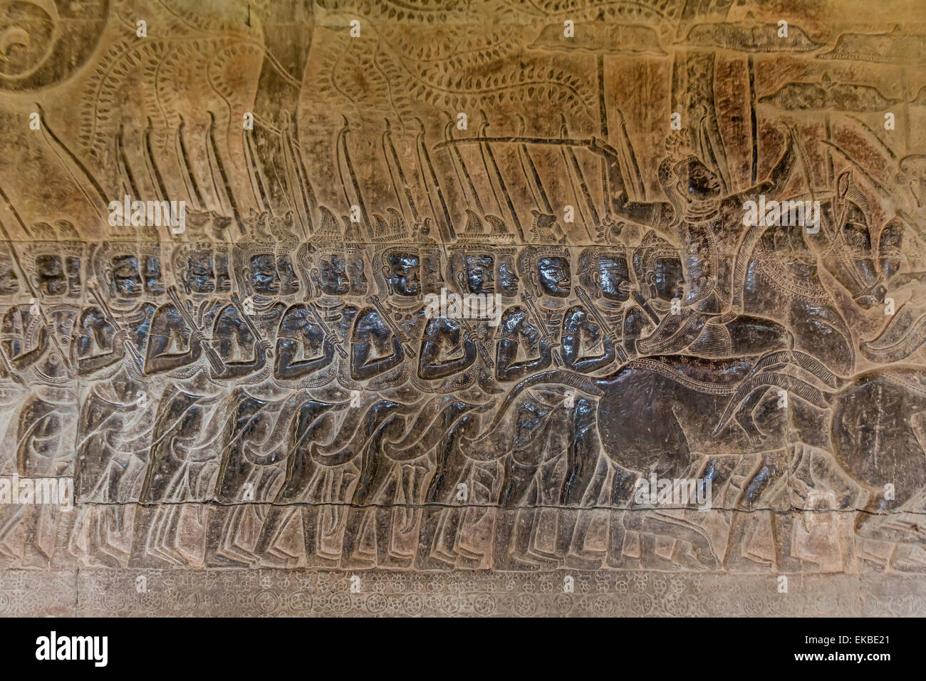 Bas relief angkor wat siem reap cambodia stock photos
