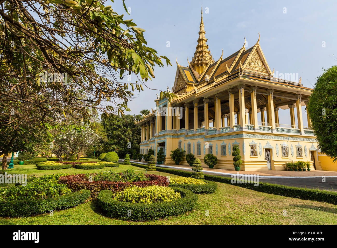 The Moonlight Pavilion, Royal Palace, in the capital city of Phnom Penh, Cambodia, Indochina, Southeast Asia, Asia - Stock Image