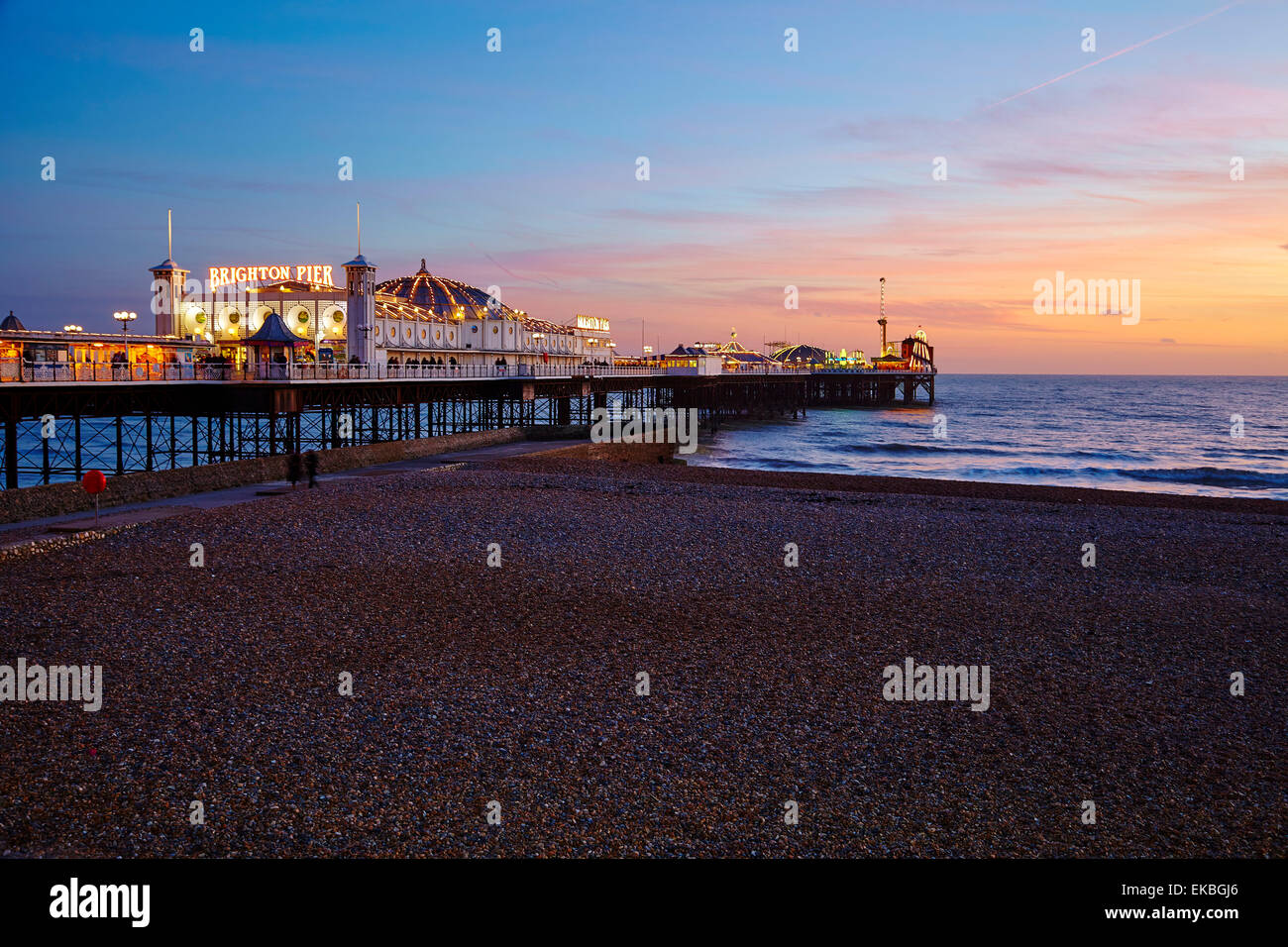 Brighton Pier, Brighton, Sussex, England, United Kingdom, Europe - Stock Image