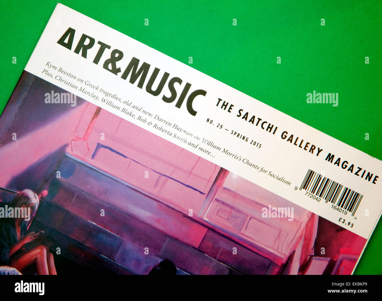 The Saatchi Gallery 'Art & Music' magazine. London - Stock Image