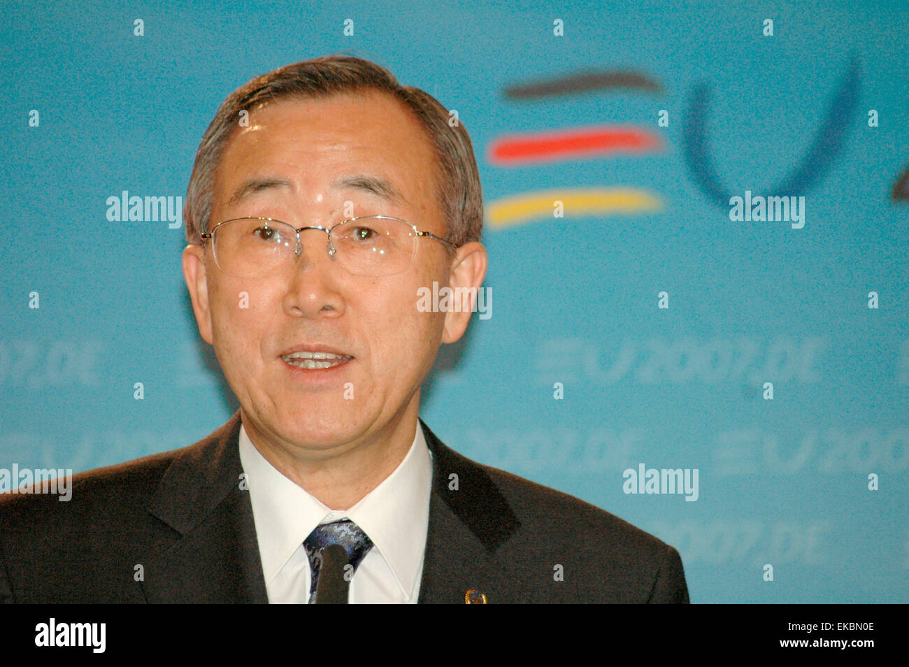 FEBRUARY 21, 2007 - BERLIN: Ban Ki-Moon - meeting of the UN Secretary General with the German Foreign Minister in Stock Photo