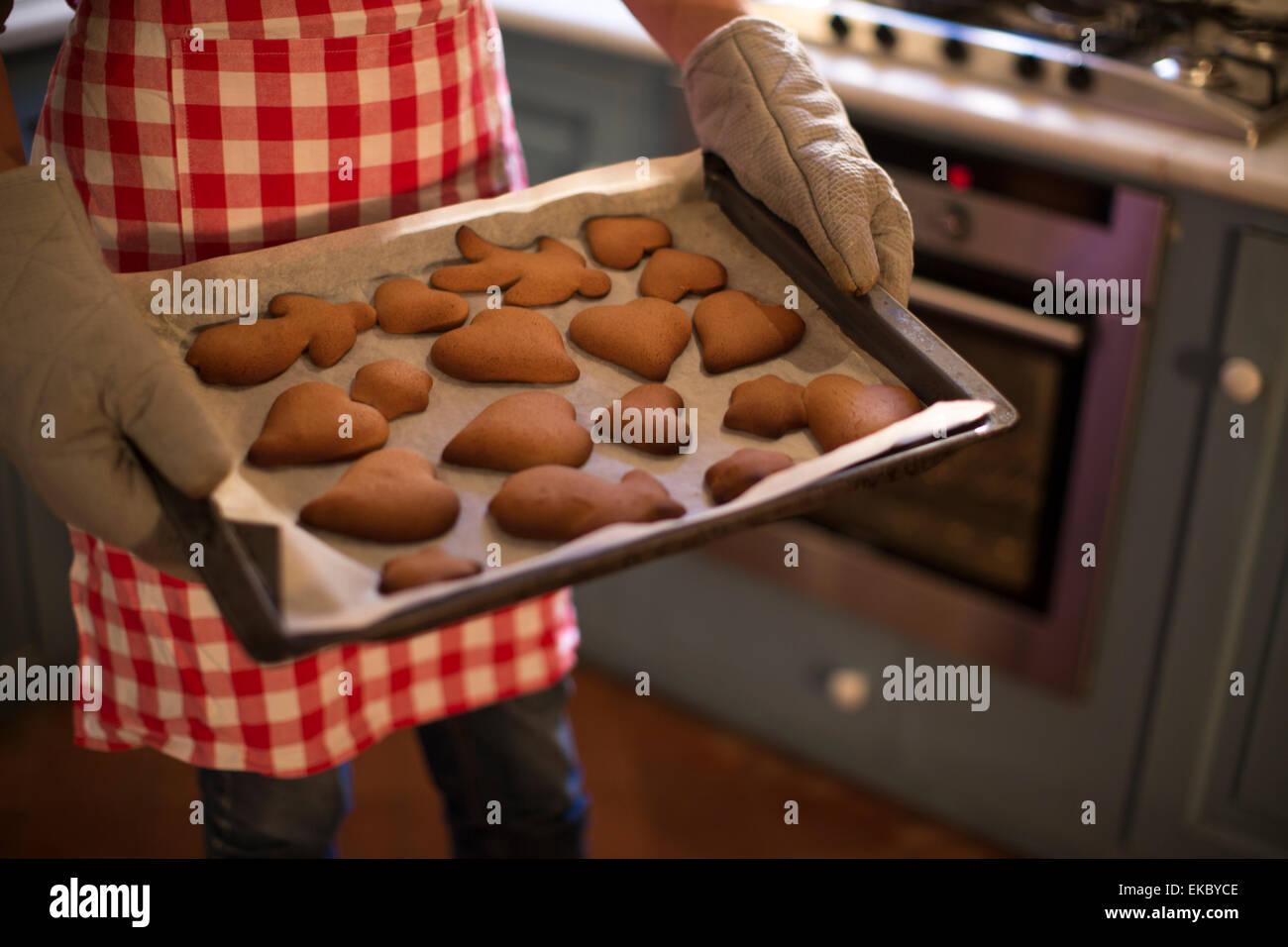 Freshly-baked homemade cinnamon and honey cookies Stock Photo