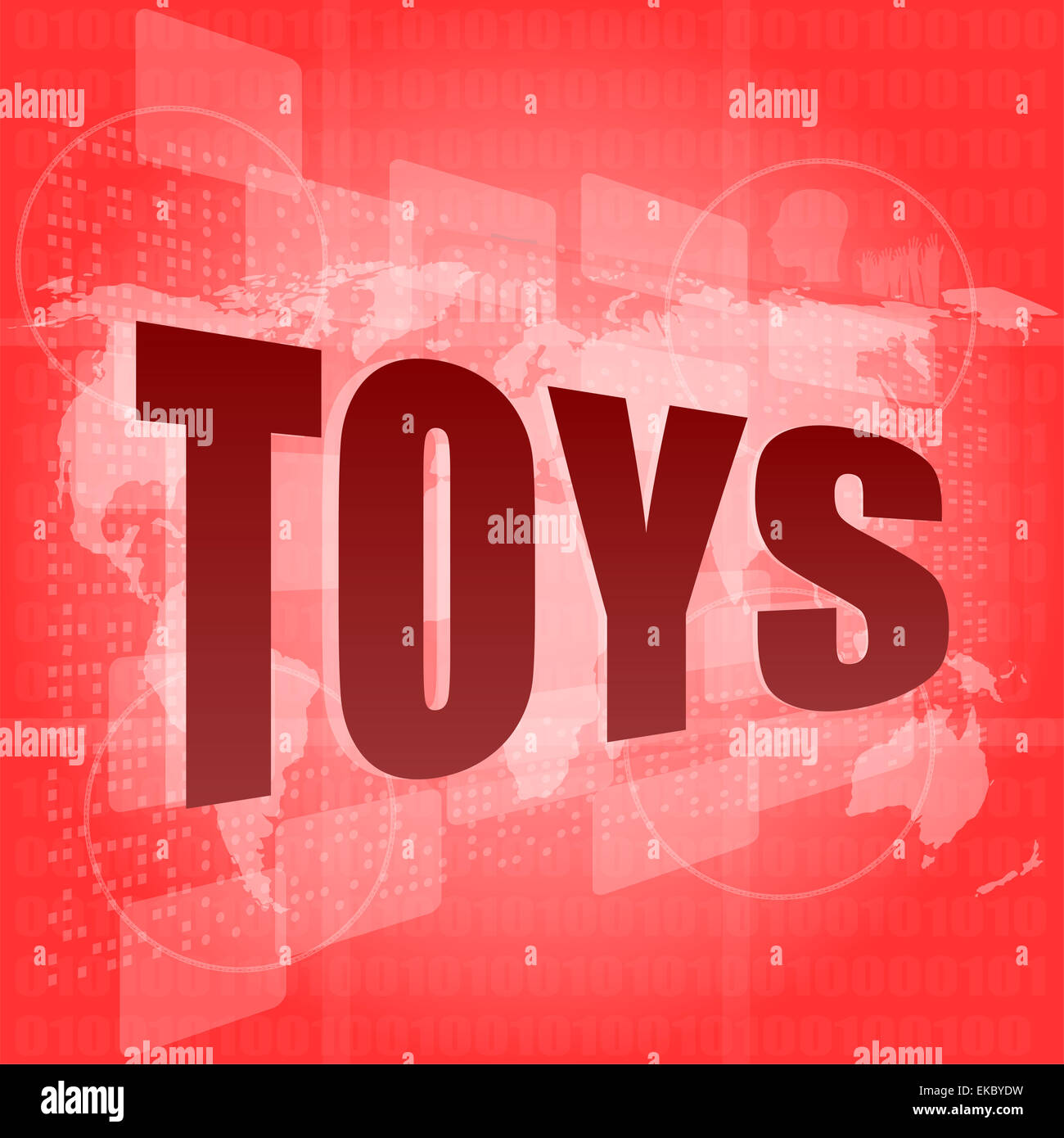 Marketing concept: words toys marketing on digital screen - Stock Image