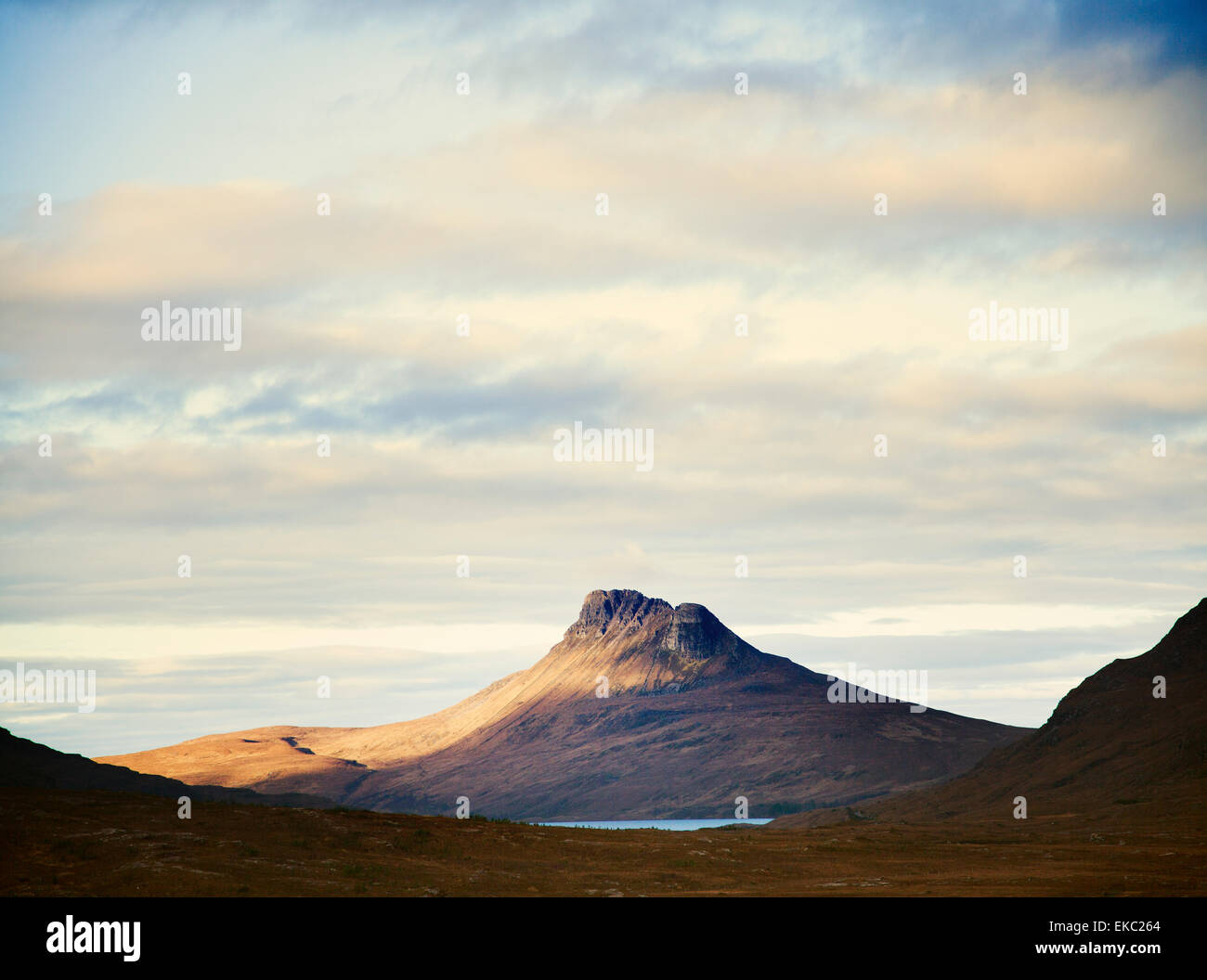 View of Stac Pollaidh, Assynt, North West Highlands, Scotland, UK - Stock Image