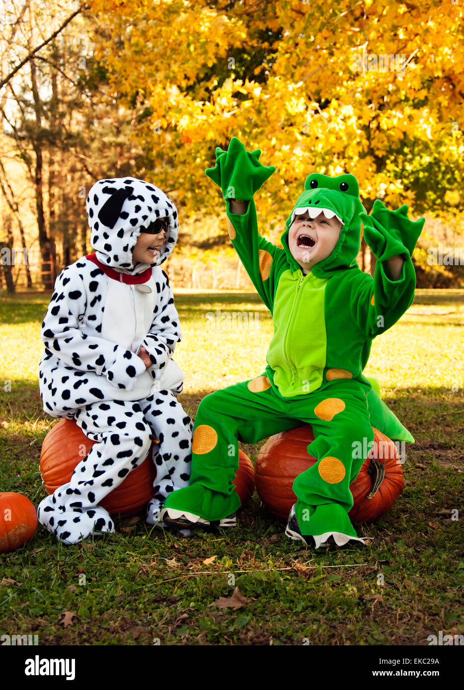 Children costume Halloween fun - Stock Image