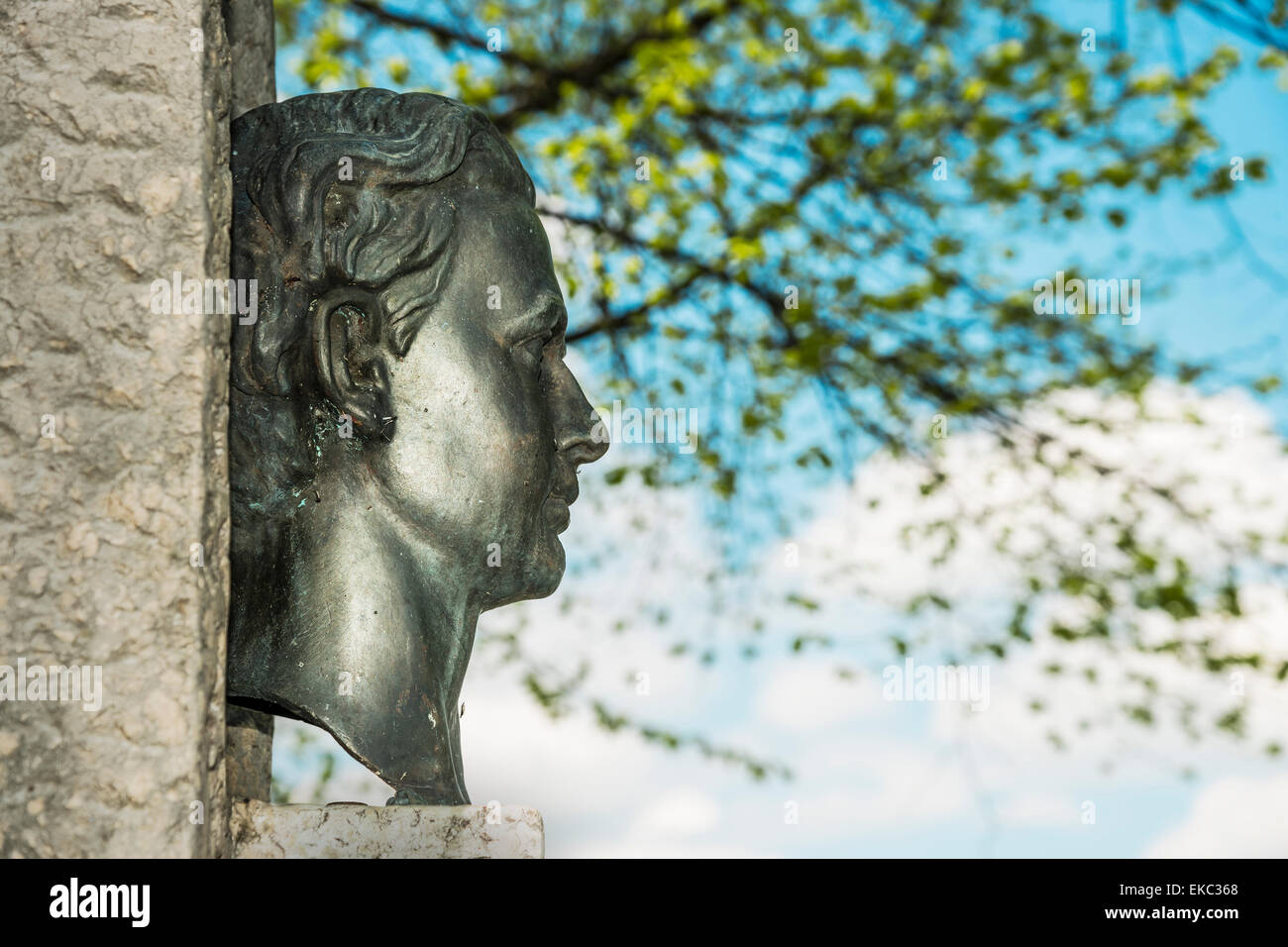 Sculpture King Ludwig Stock Photo