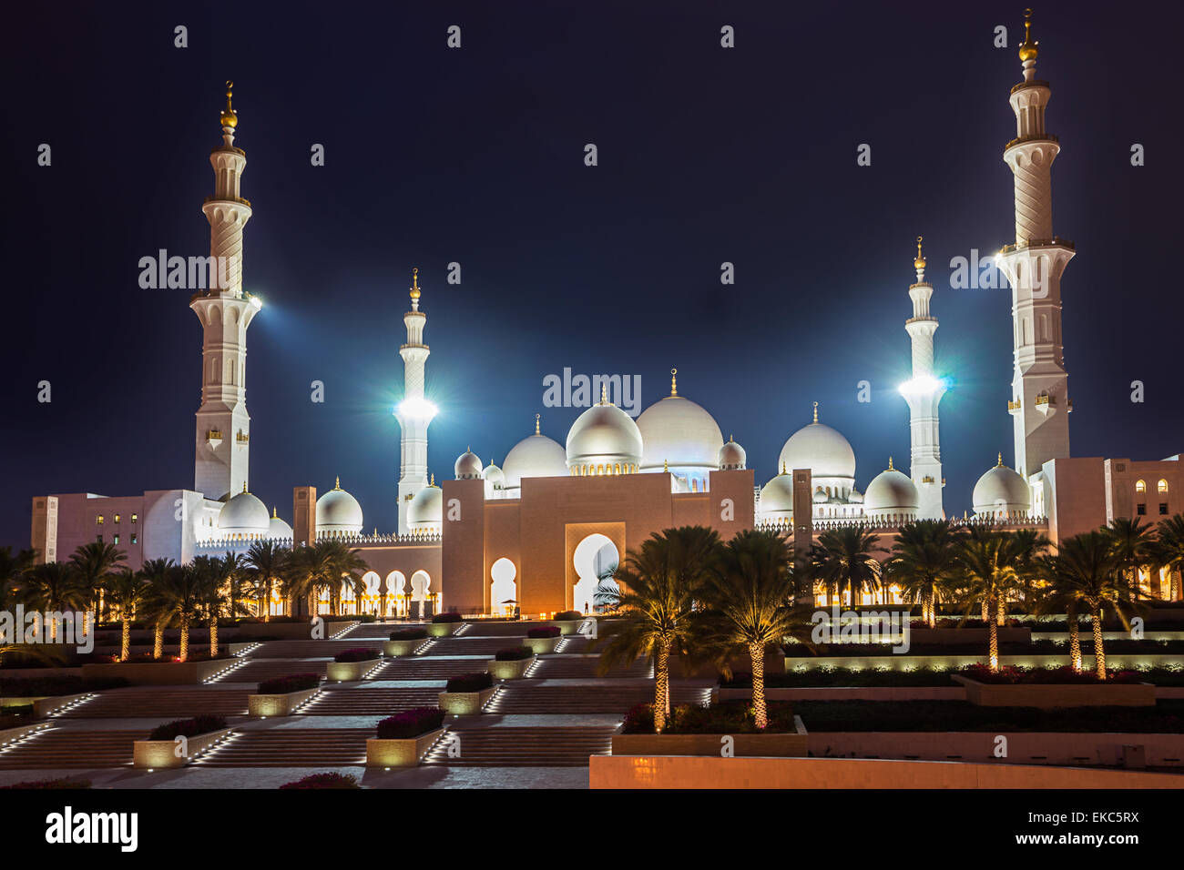 Sheikh Zayed Grand Mosque - Stock Image