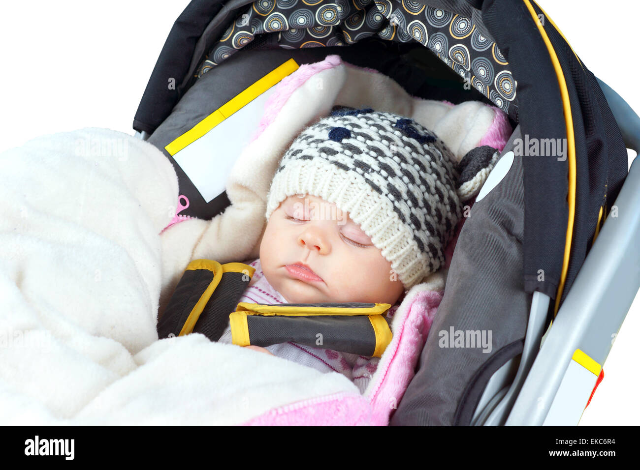Newborn sleeping in car seat Stock Photo: 80788712 - Alamy