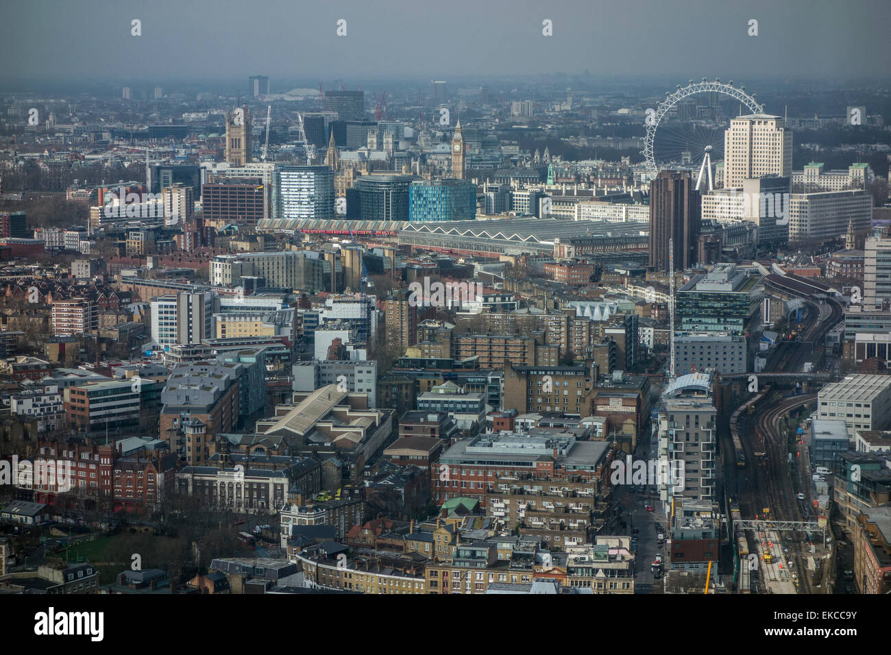 View From 42nd Floor Of The Shard London Showing The London Eye