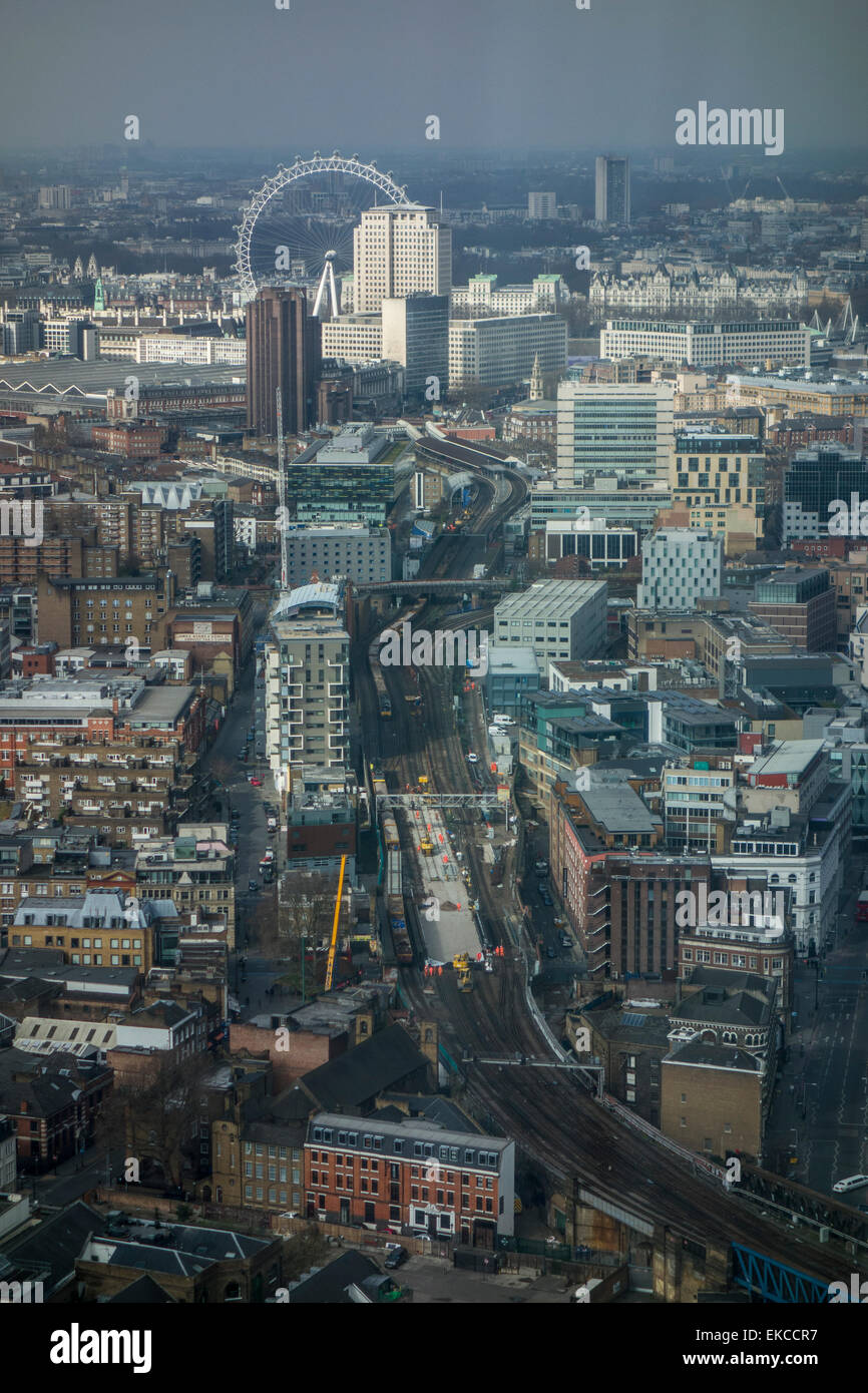 View From 42nd Floor Of The Shard London Showing The London Eye In