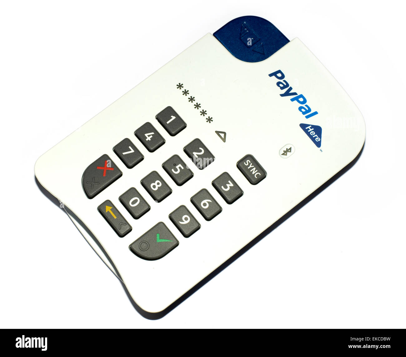 paypal here mobile bluetooth card reader on white background allows credit card payments to be - Paypal Credit Card Swiper