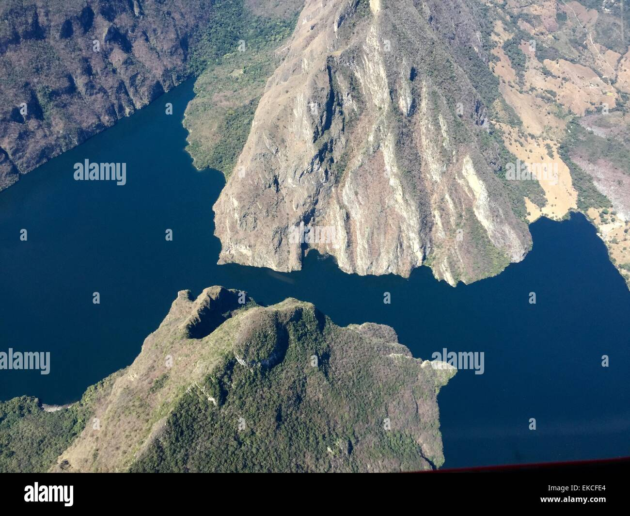 Aerial view of Sumidero Canon, Mexico - Stock Image