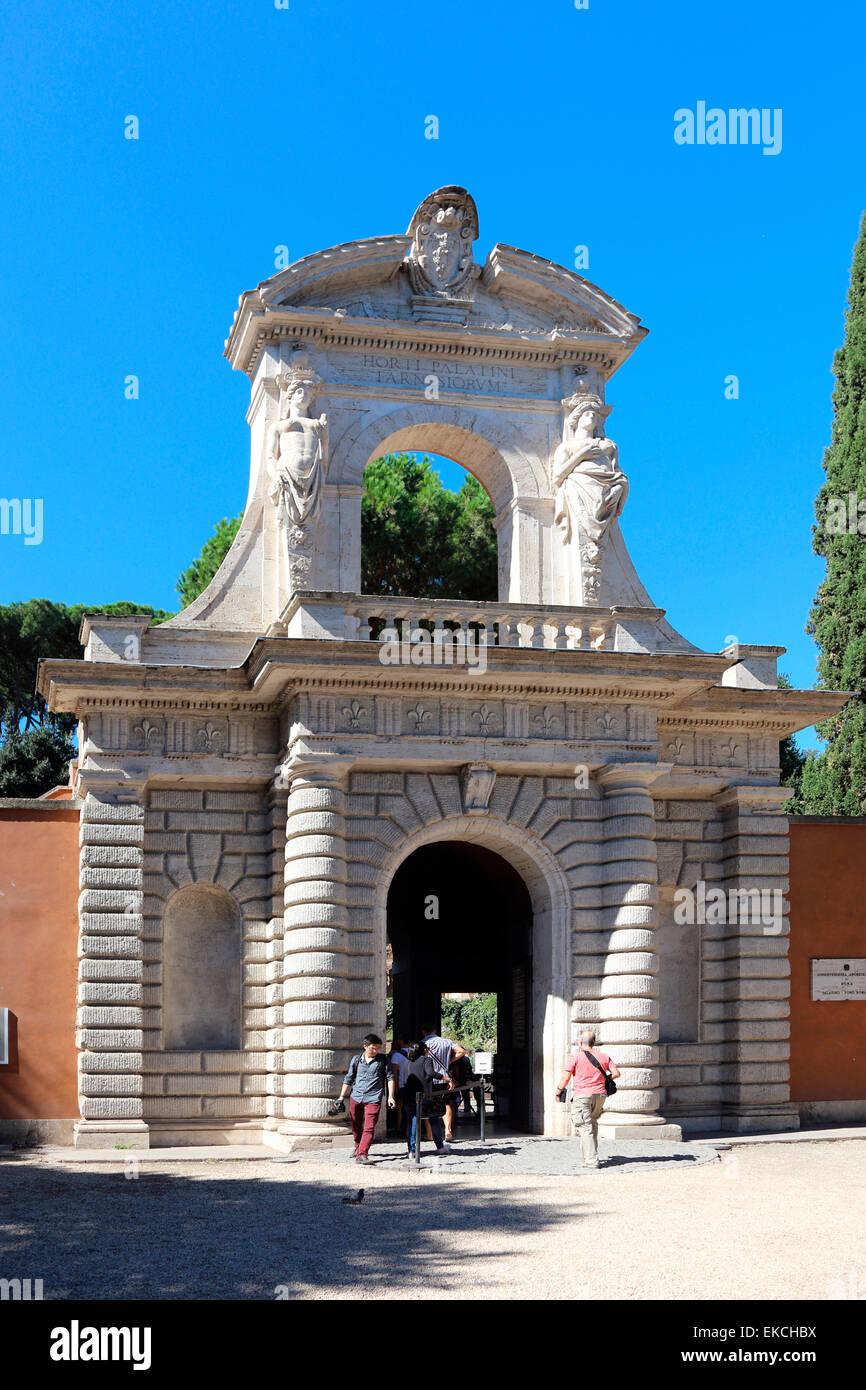 Italy Rome Palatino Foro Romano - Stock Image