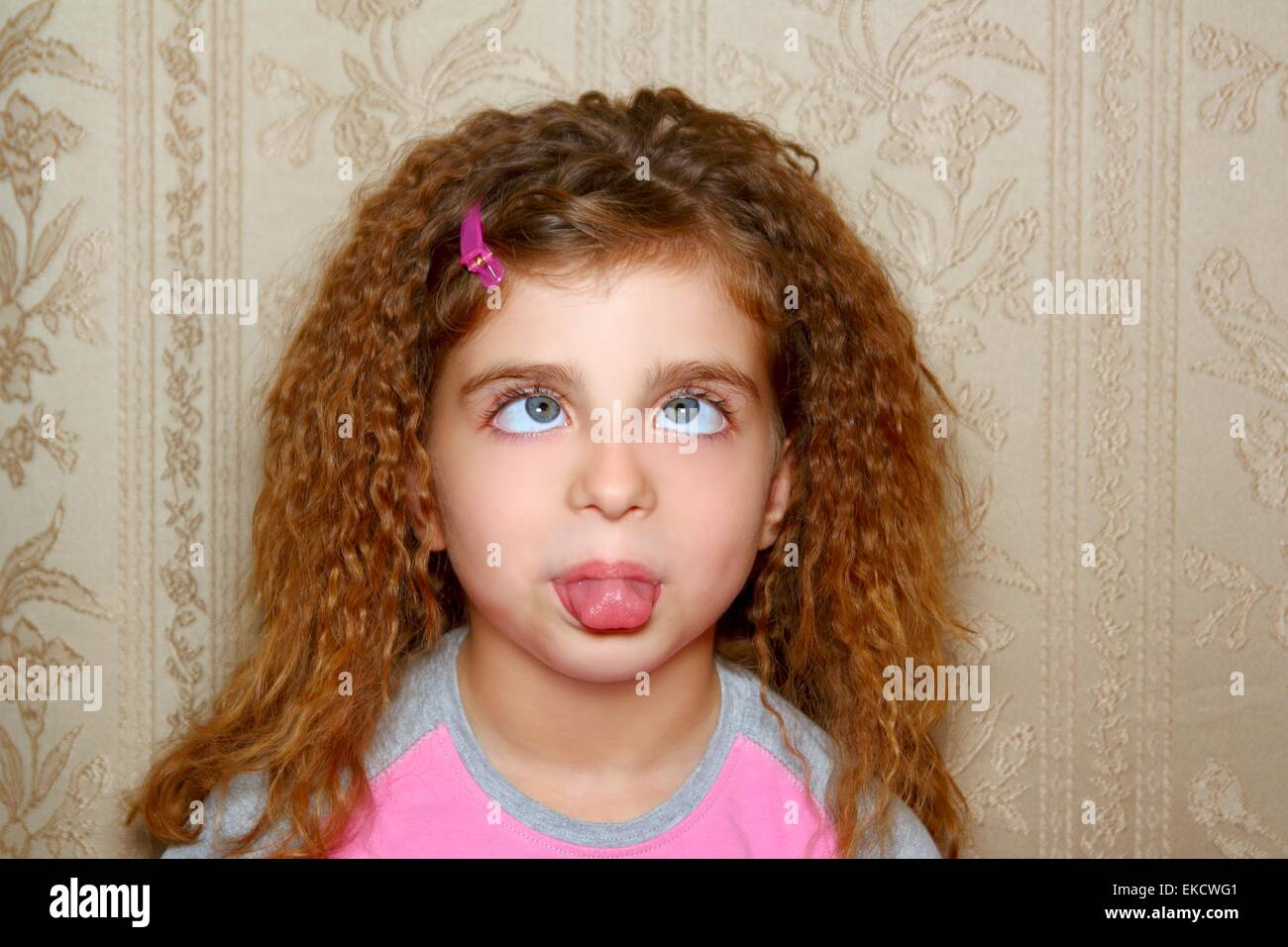 Funny girl face ugly expression cross eyed squinting stock - Ugly face wallpaper ...