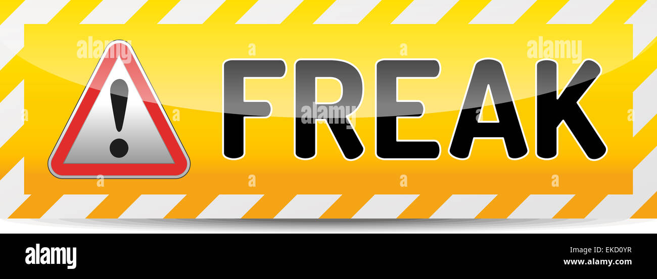 FREAK - Factoring RSA Export Keys Security attack warning banner with shadow on white background - Stock Image