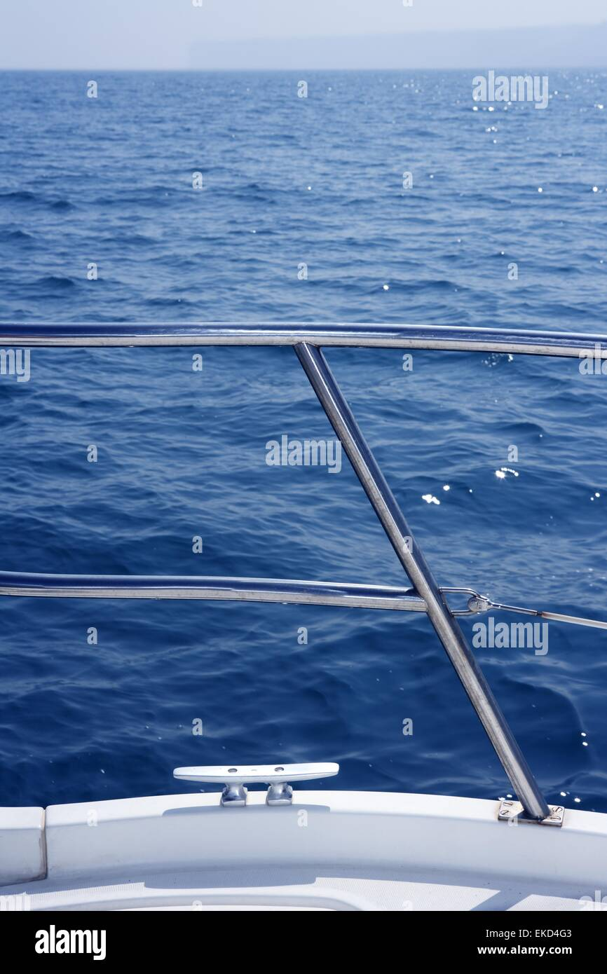 Marine Knot Detail On Stainless Steel Boat Railing Stock
