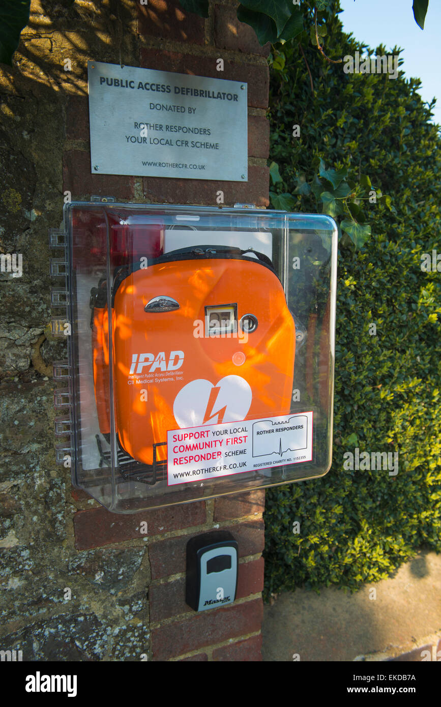 First of many public access defibrillators for portishead heartsafe.