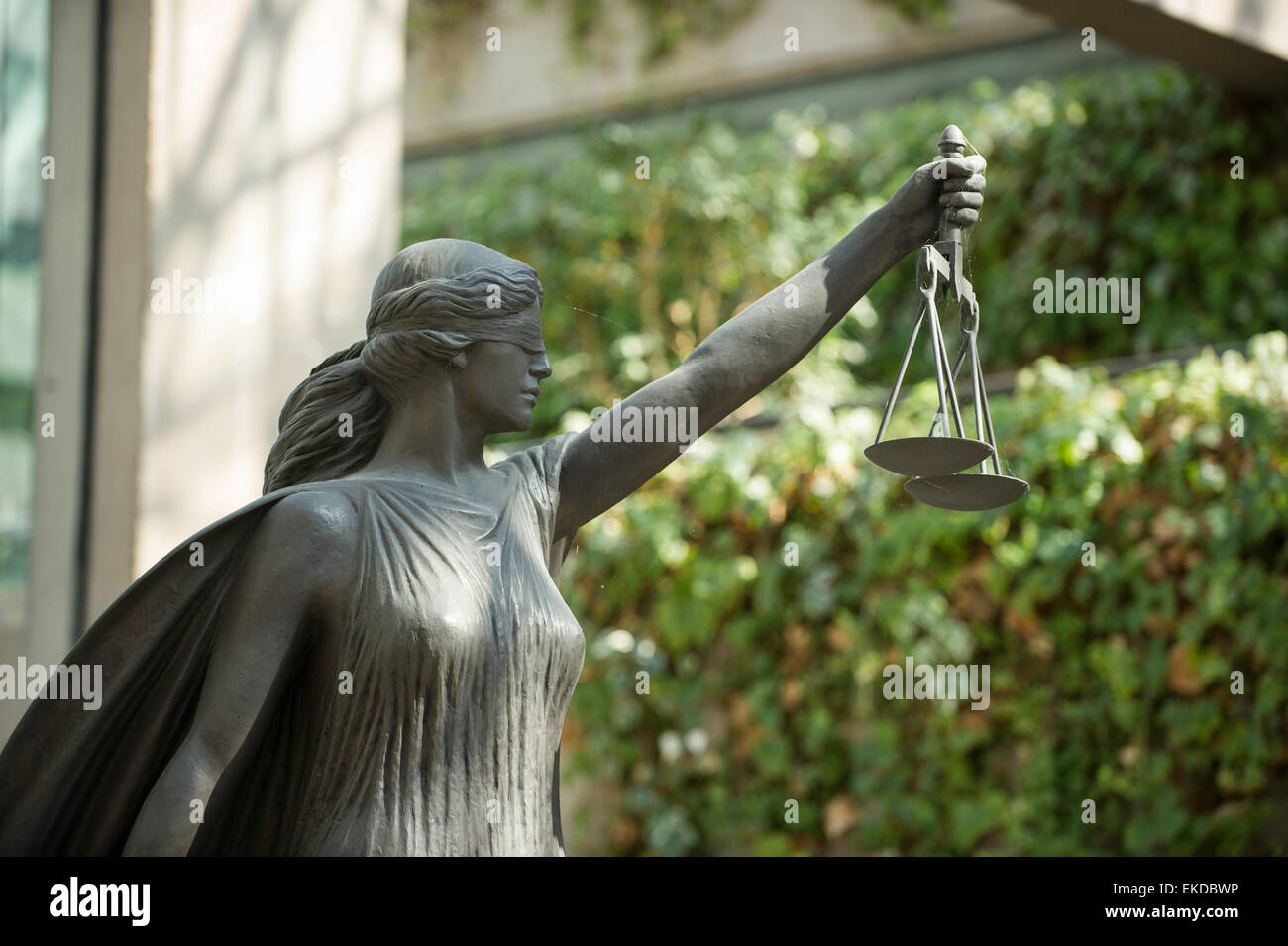 Lady of Justice statue, Vancouver Courthouse - Stock Image