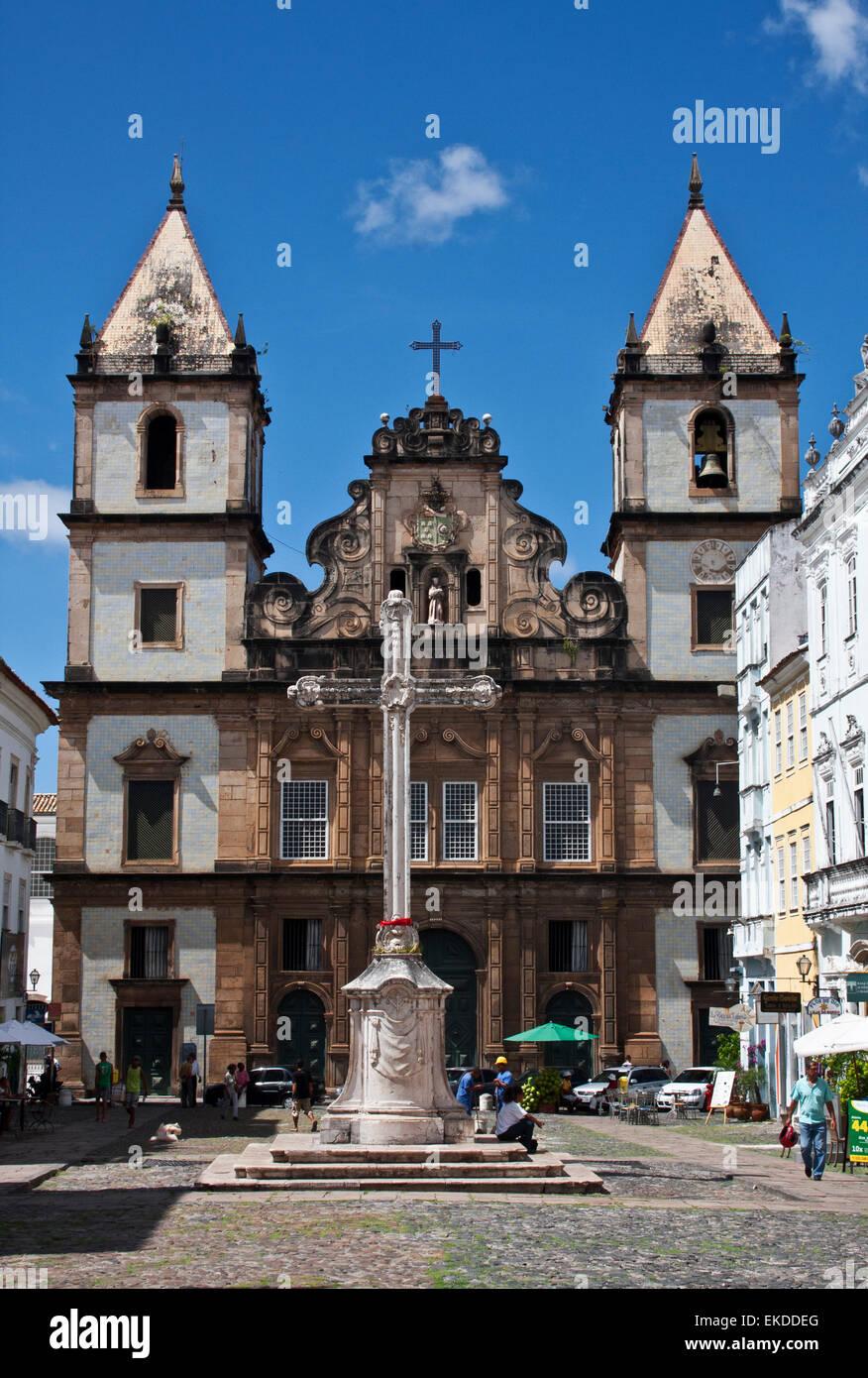 Salvador De Bahia Brazil Church Of San Francisco Cross Of San