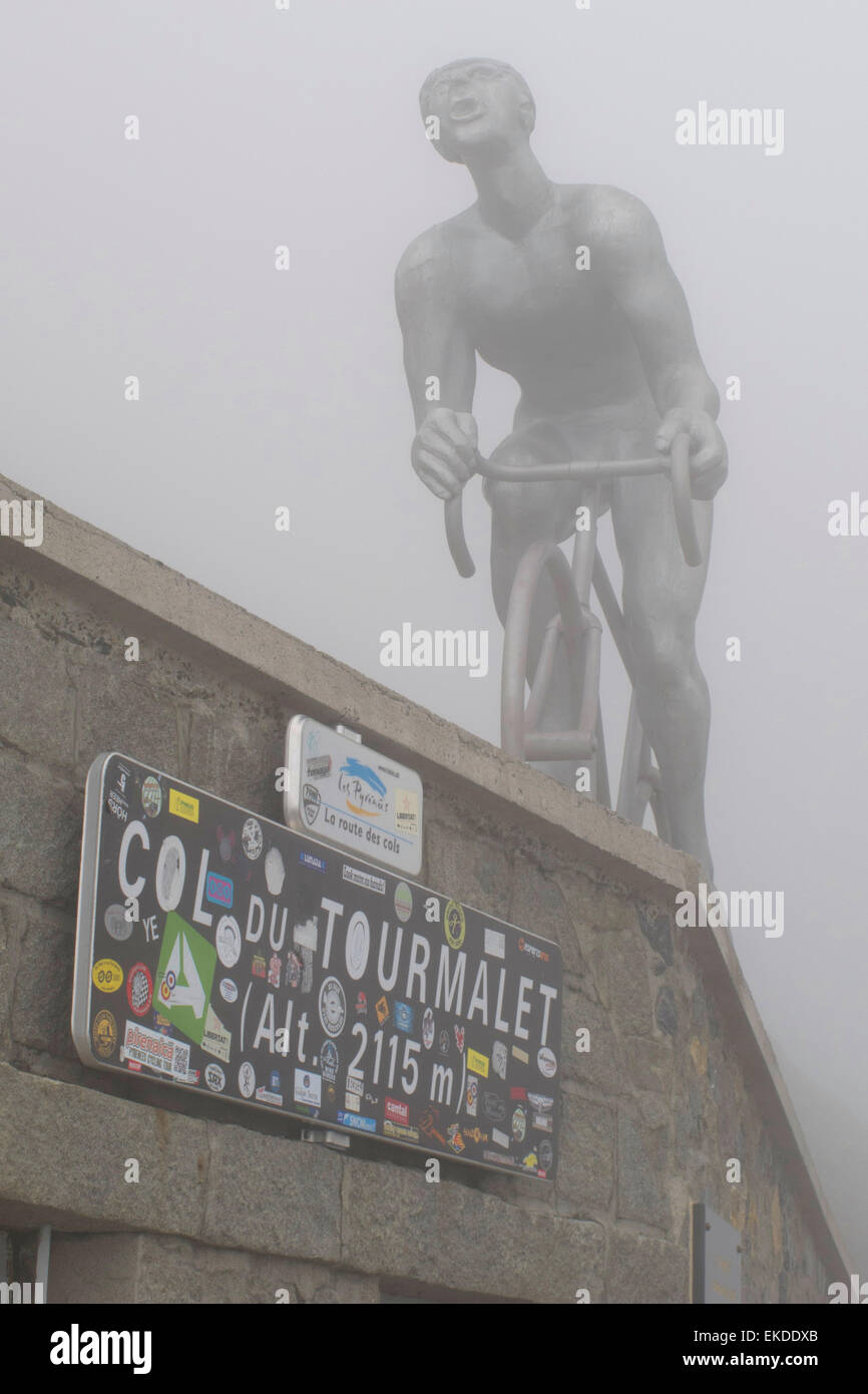 Col du Tourmalet (2115 m), French Pyrenees. Stock Photo