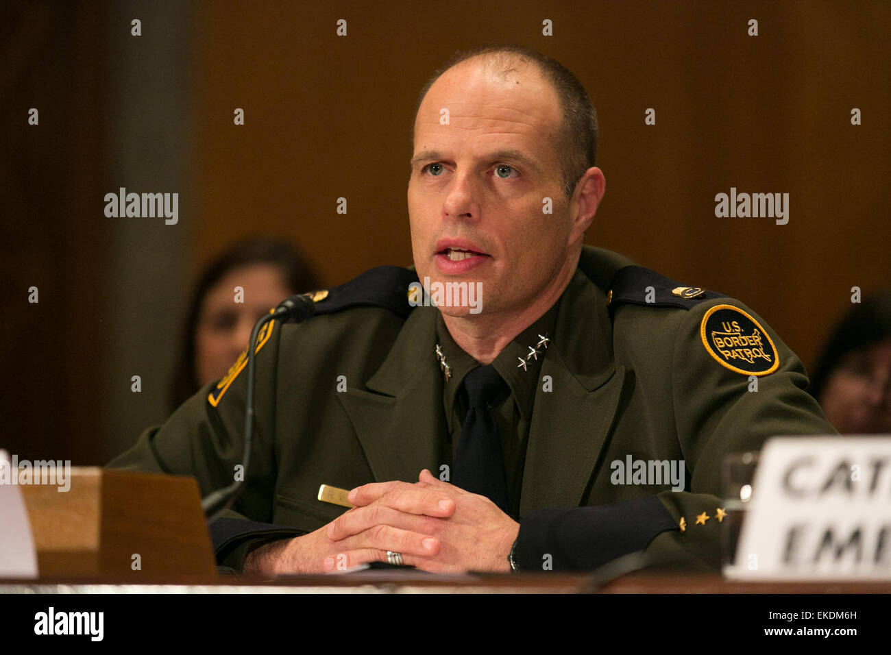 Deputy Chief Ron Vitiello testifies at a Senate Homeland Security and Governmental Affairs Subcommittee on the Efficiency - Stock Image