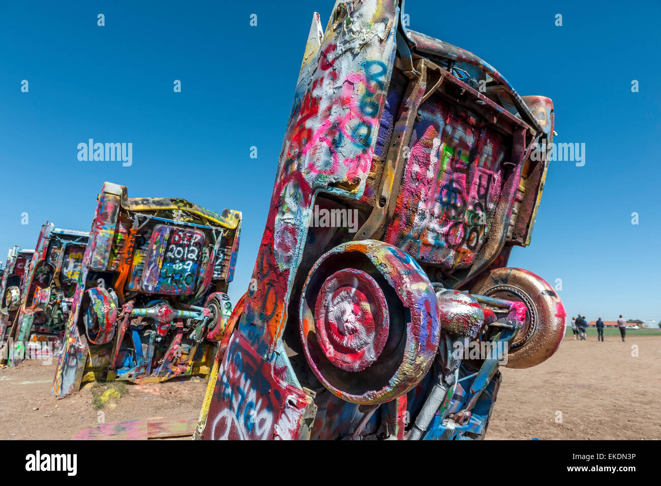 Cadillac Ranch, Amarillo .Texas.USA - Stock Image