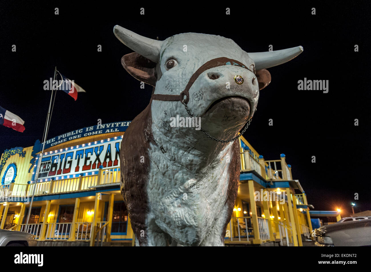 Big Texan Steak Ranch. Amarillo. Texas. USA - Stock Image